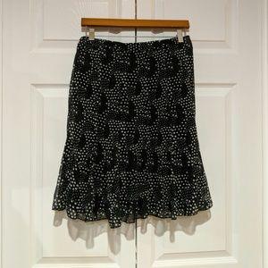 """Dresses & Skirts - Black and white polka dot skirt 29"""" elastic waist"""